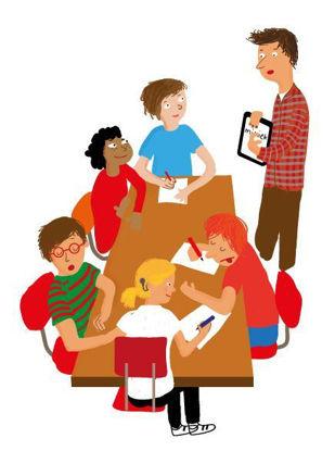 Afbeeldingen van Een dove of slechthorende leerling in de klas