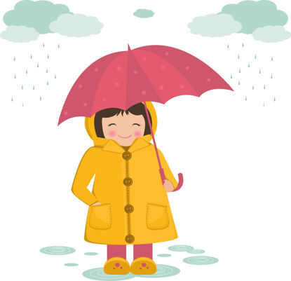 Afbeeldingen van Tas vol taal - Herfst en bosdieren / Regen